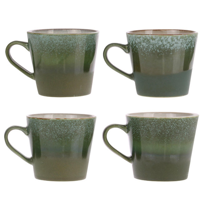 Ceramic 70's Cappuccino kopje Grass