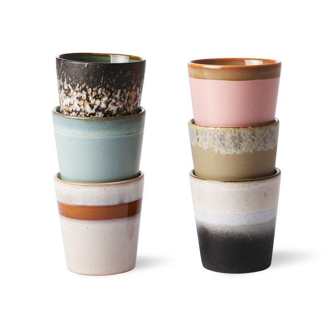 Ceramic 70's Kopjes Set van 6