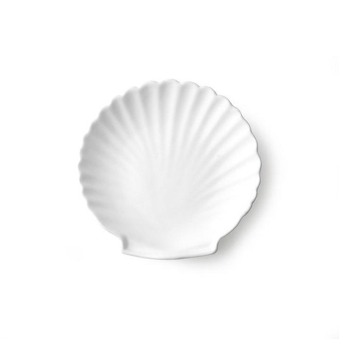 Athena Ceramics Dienblad Schelp Wit Mat M