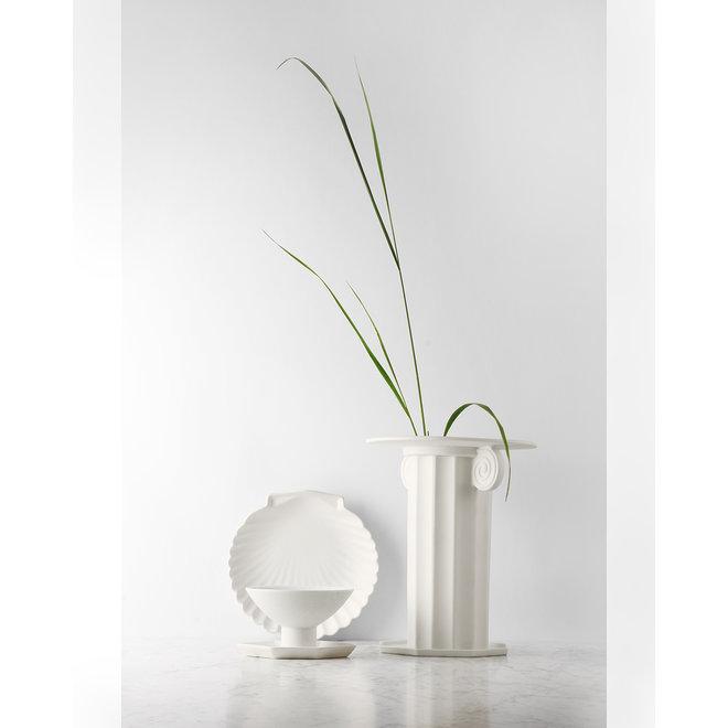 Athena Ceramics Dienblad Schelp Wit L