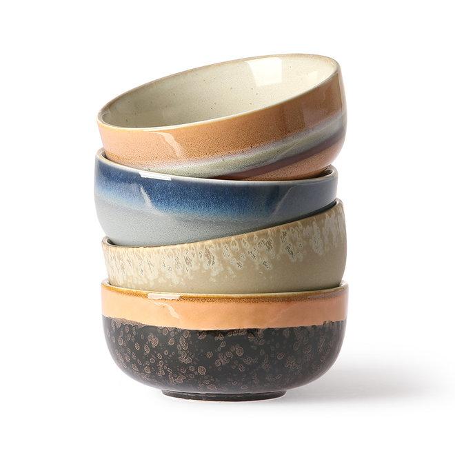 Ceramic 70's Tapas Schaaltje Set van 4 s