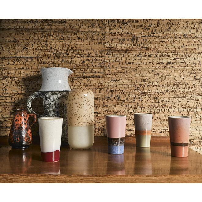 Ceramic 70's Latte Macchiato Kopjes Set van 4