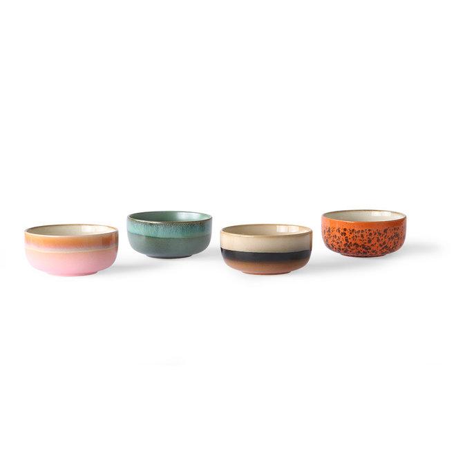 Ceramic 70's Dessertschaaltje Set van 4 s