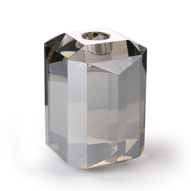 Kaarsenhouder Diamond Kristalglas Grijs