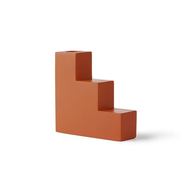 Kaarsenhouder Trap Beton Oranje L