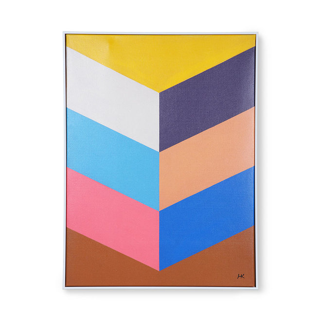 Schilderij Colourful Strokes