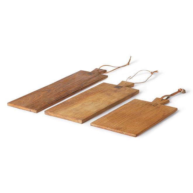 Broodplank Teakhout Set van 3