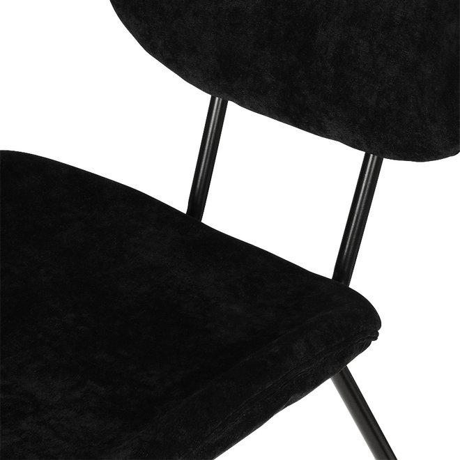 Eetkamerstoel Rib Zwart