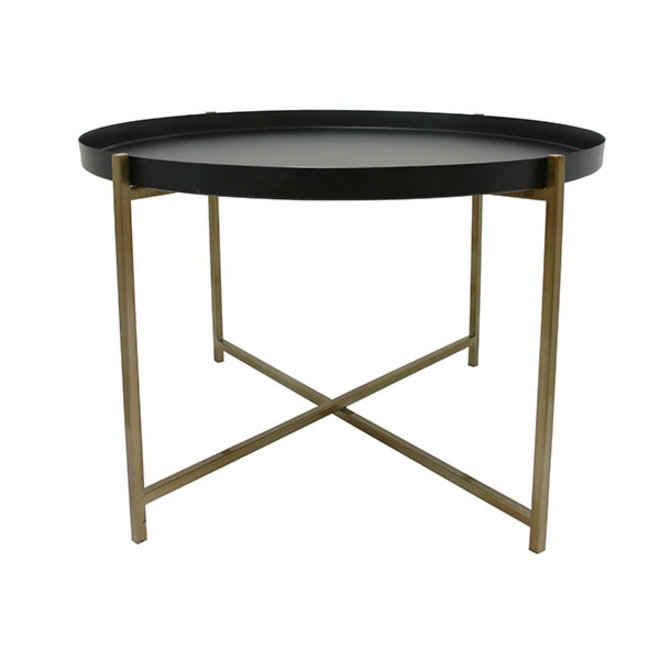 Side table Messing Zwart L