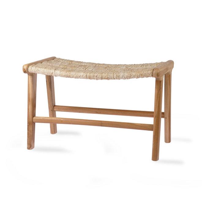 Lounge Ottoman Abaca/Teak