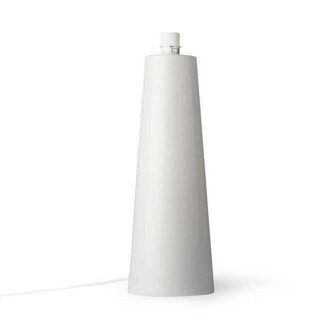 Lamp zonder kap Lichtgrijs Kegel Mat L