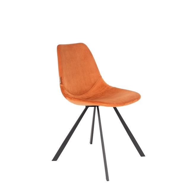 Eetkamerstoel Franky Velvet - Oranje