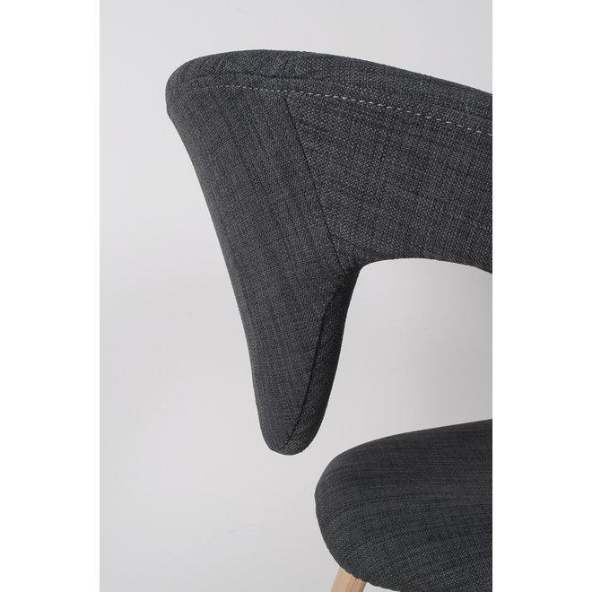 Eetkamerstoel Flexback - Zwart/- Donkergrijs
