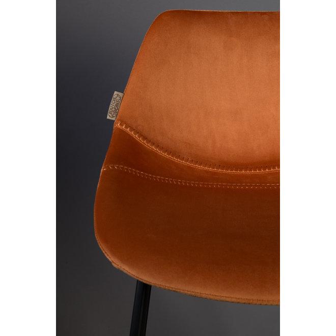 Barstoel Franky Velvet - Oranje