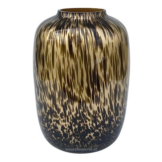 Artic Vaas goud cheetah L  Ø32,5 x H45 cm