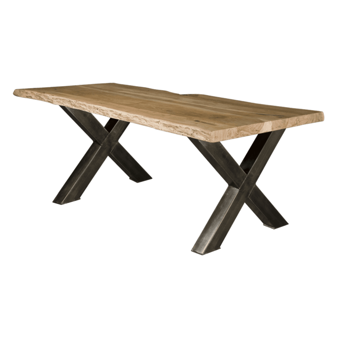 Xabia Tree-trunk Dining Table 180x90 - Top 4acacia Solid Stain Free Protection