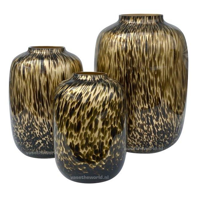 Artic cheetah vaas gold Ø21 x H29 cm