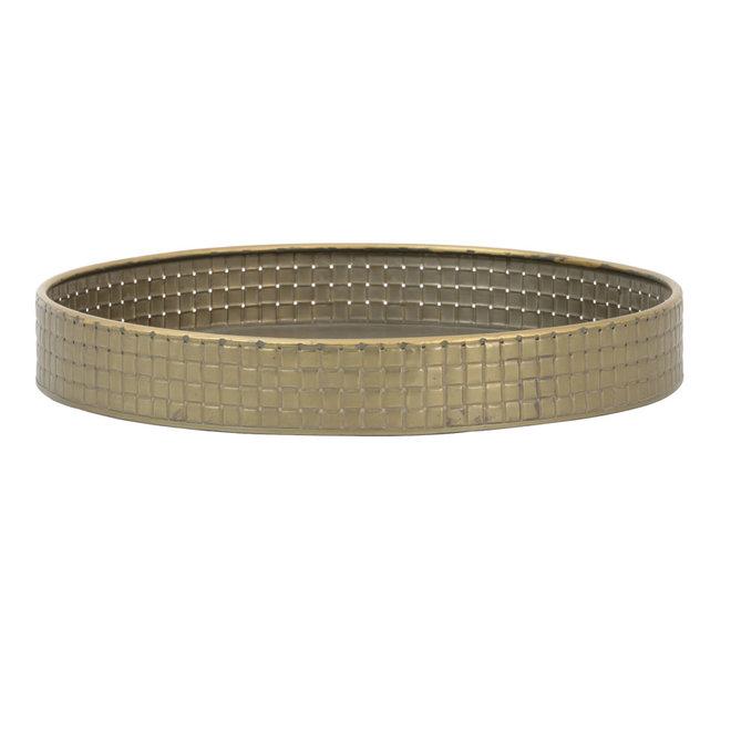 Dienblad Ø39x8,5 cm  tin brons