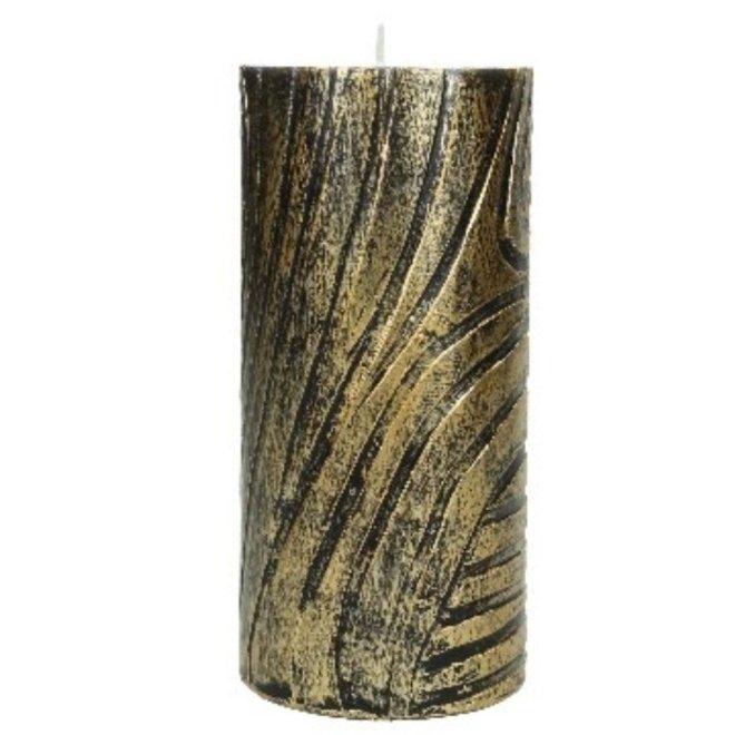 Dierenkaars Skin Zebra - Zwart/Goud