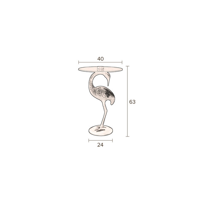SideEettafel Crane - Zwart