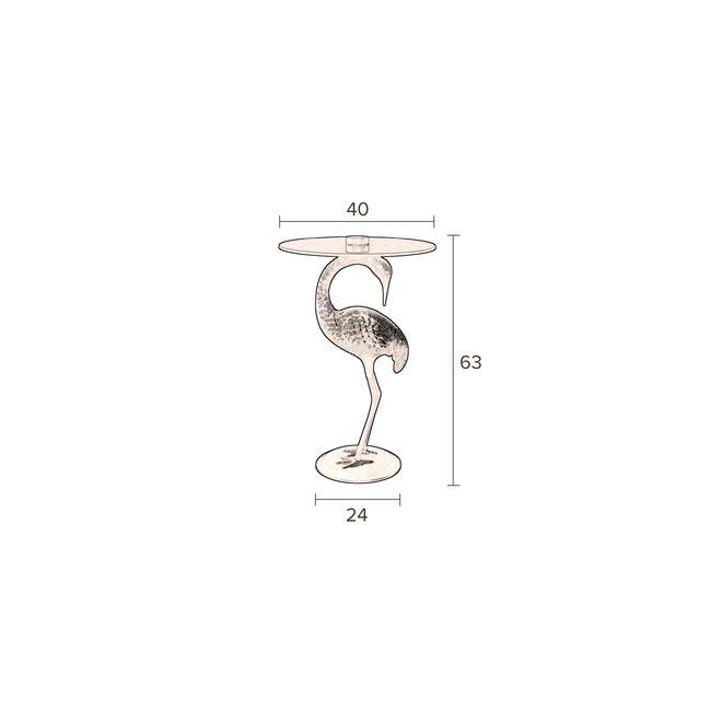 SideEettafel Crane - Goud