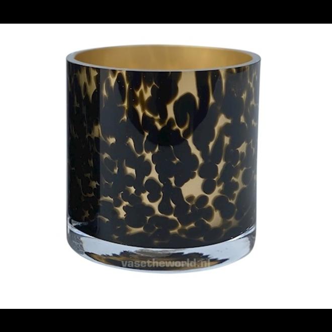 Celtic gold cheetah Ø12 x H12 cm