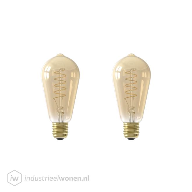 2x E27 LED Lichtbron Dimbaar