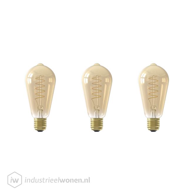 Alaska 3x E27 LED Lichtbron Dimbaar