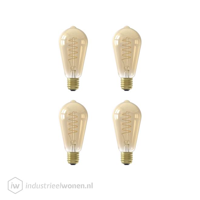 4x E27 LED Lichtbron Dimbaar
