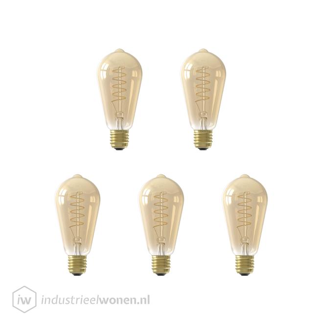 5x E27 LED Lichtbron Dimbaar