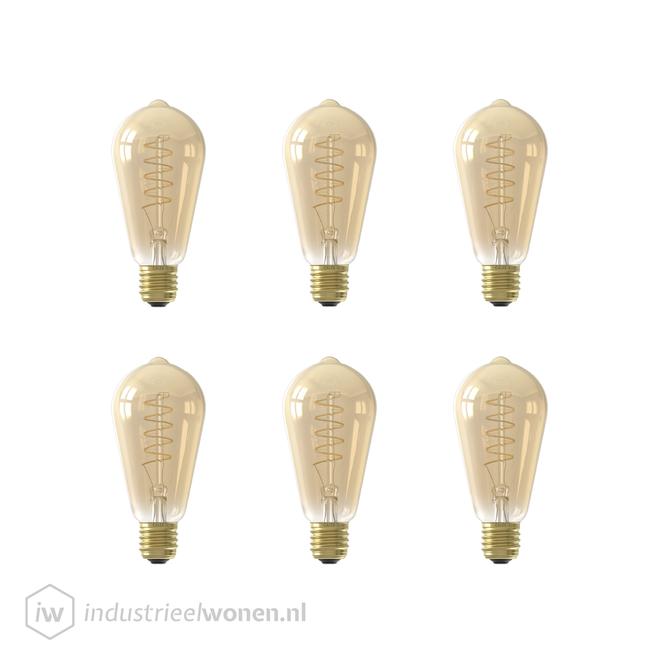 6x E27 LED Lichtbron Dimbaar