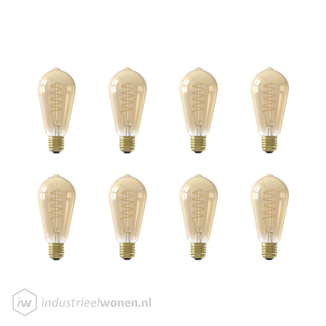 8x E27 LED Lichtbron Dimbaar