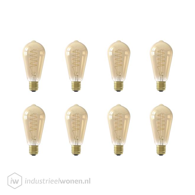 Alaska 8x E27 LED Lichtbron Dimbaar