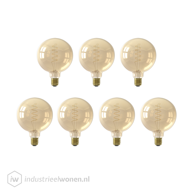 7x LED Lichtbol XL - Ø125mm - Dimbaar