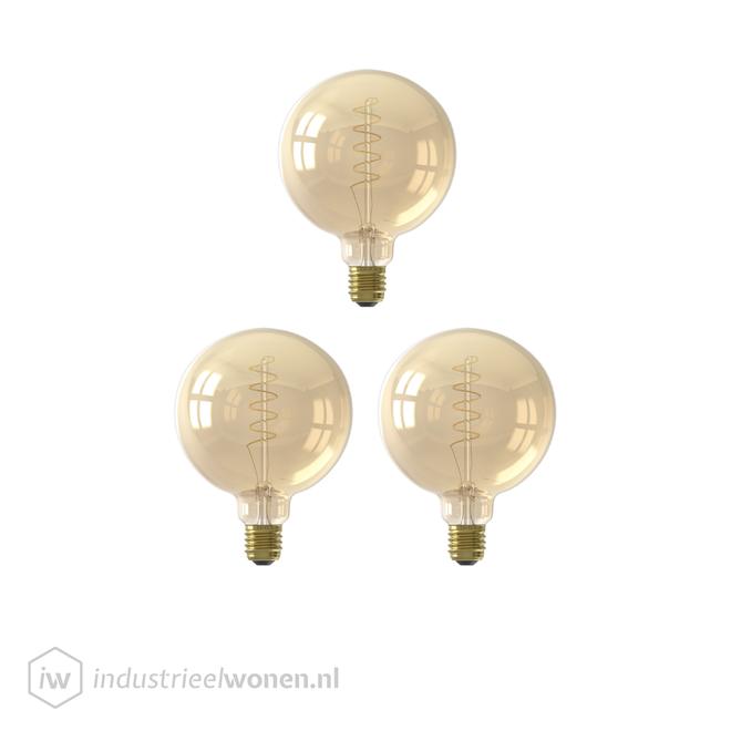 3x LED Lichtbol - Ø95mm - Dimbaar