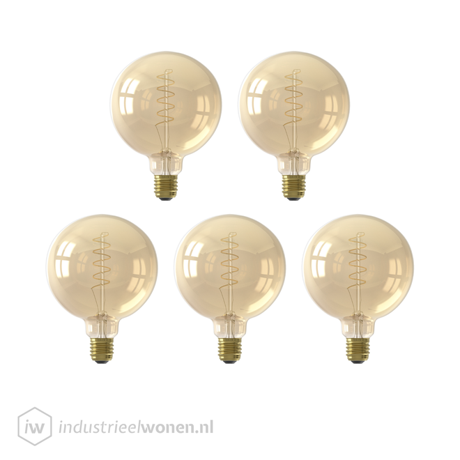 5x LED Lichtbol - Ø95mm - Dimbaar