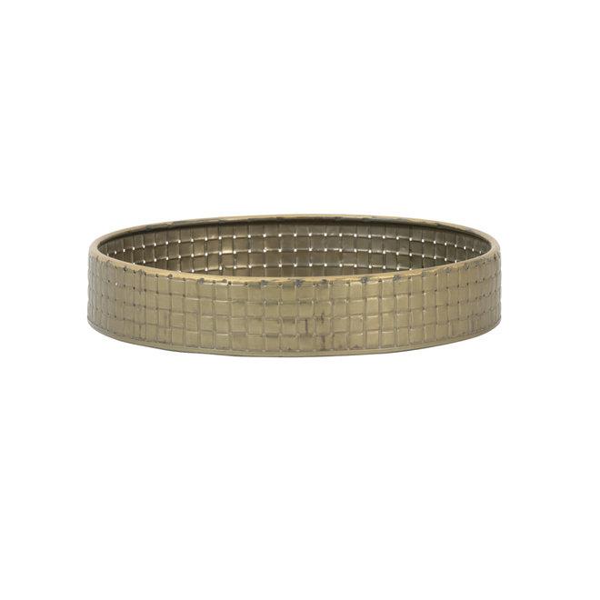 Dienblad Ø30x6,5 cm STAVO tin brons