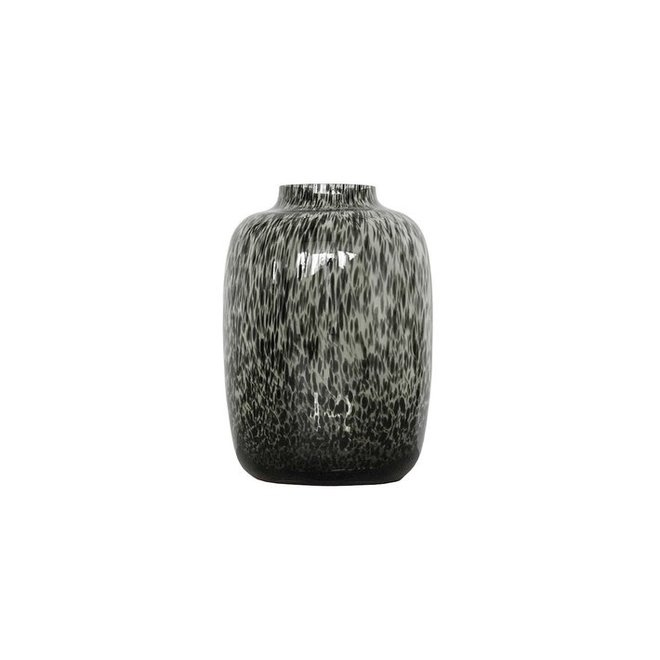 Kara small grey cheetah Ø21 x H29 cm