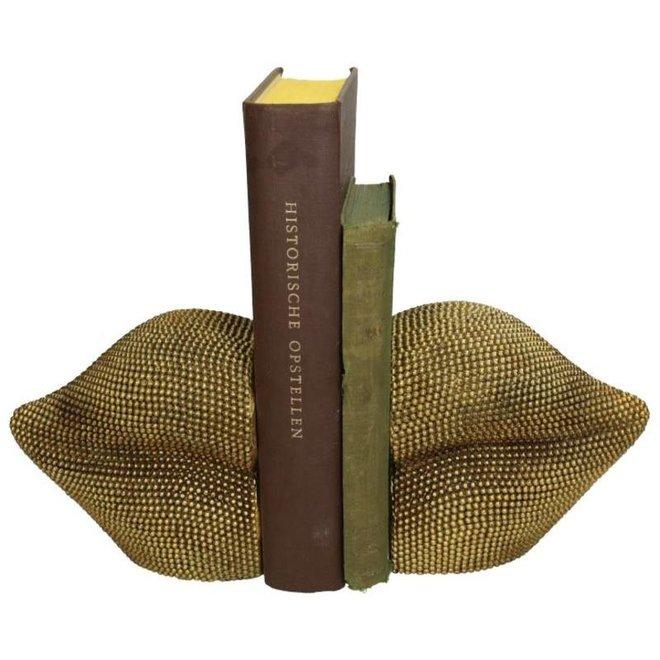 Boeken standaard gouden lippen