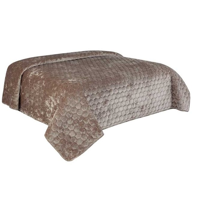 IW Collection - Beddensprei Taupe 240x280 cm
