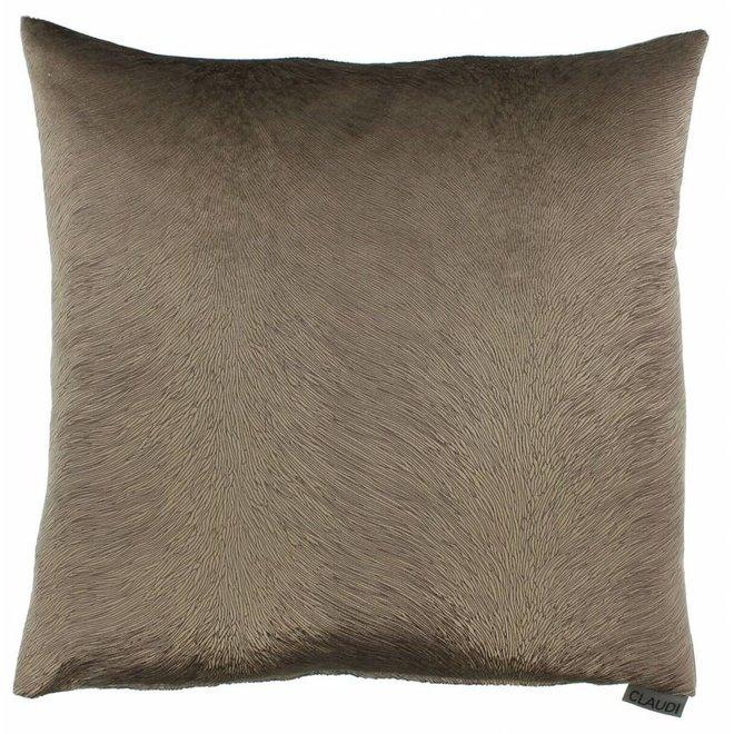 Claudi kussen - Perla bronze 45x45 cm
