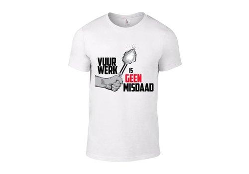 Barium Vuurwerk Is Geen Misdaad T-Shirt (White)