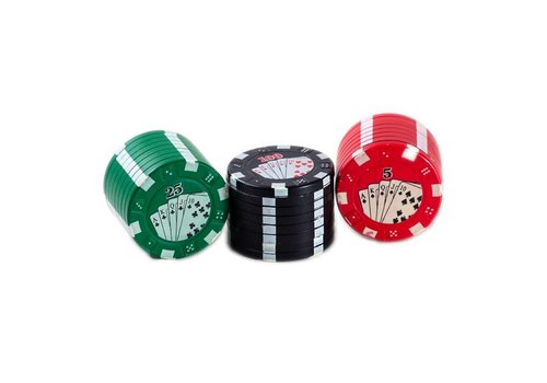 Aluminium Grinder | 3 Part 42mm Casino Poker