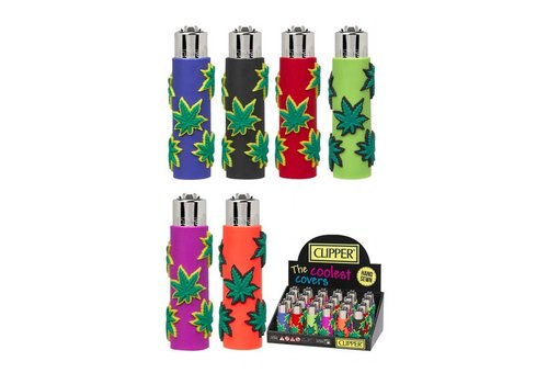 Clipper Clipper Mini Rubber Case Leafs Aansteker
