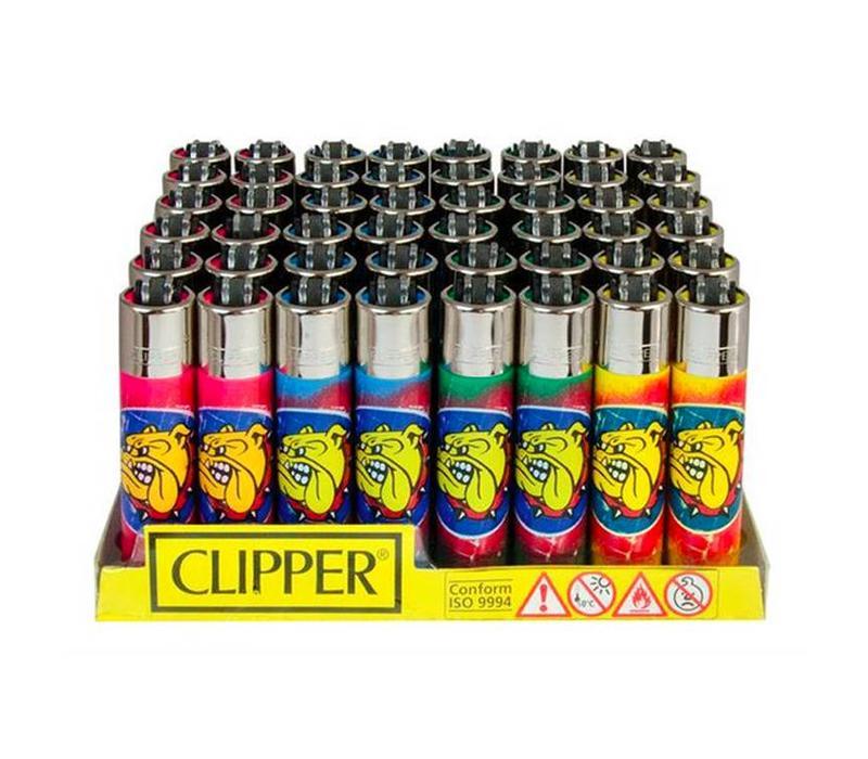 Clipper The Bulldog Graffiti Aansteker