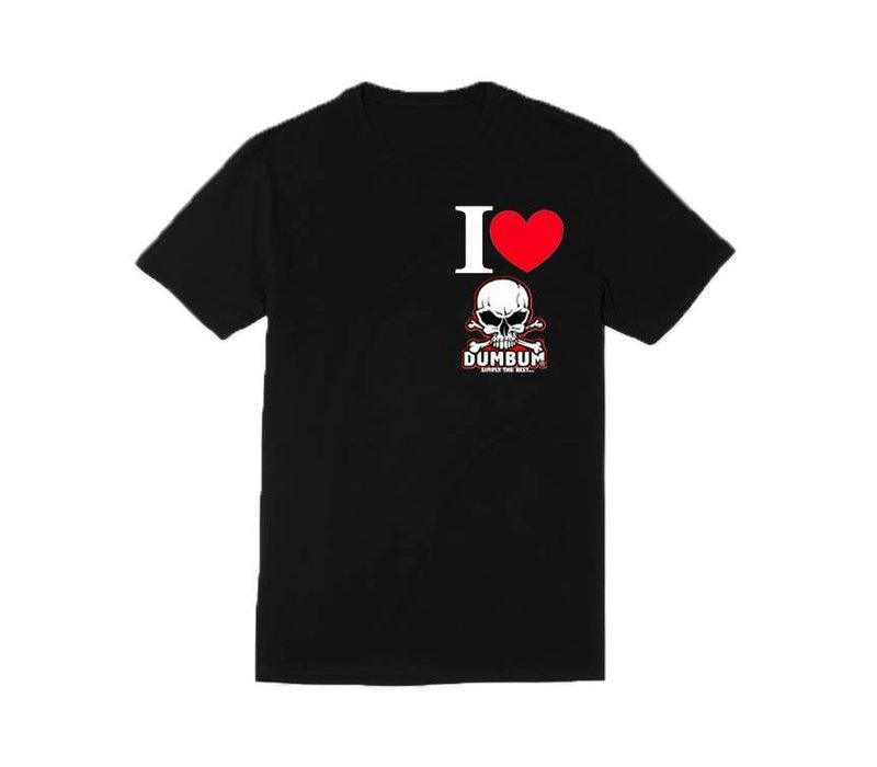 I Love Dum Bum T-Shirt (Zwart)