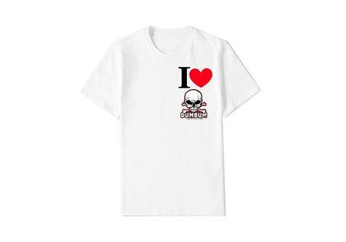 Dum Bum I Love Dum Bum T-Shirt (Wit)