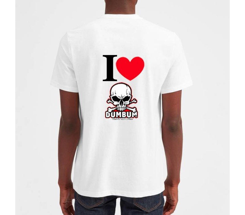 I Love Dum Bum T-Shirt (Wit)