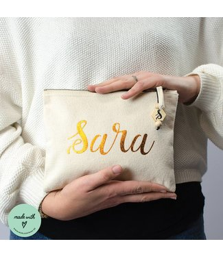 Make-up bag with name