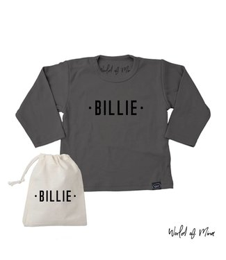 World of Mina T -shirt longsleeve The Billie - with name